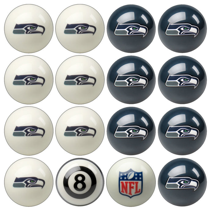 NFL Seattle Seahawks Pool Balls - Home/Away Set