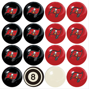 NFL Tampa Bay Buccaneers Pool Balls - Home/Away Set