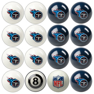 NFL Tennessee Titans Pool Balls - Home/Away Set