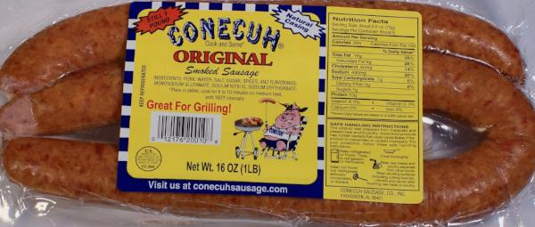 Original Smoked Sausage (6-1 pound packs)