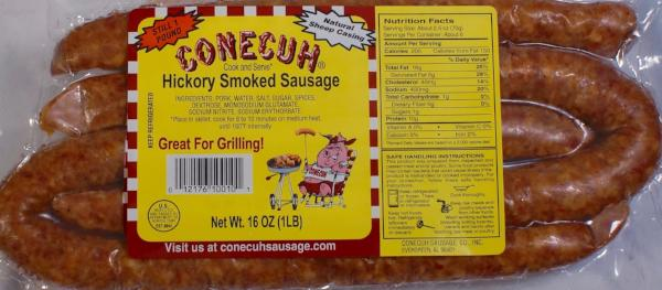 Hickory Smoked Sausage (12-1 pound packs)