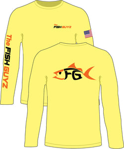 """The Fish Guyz"" Long Sleeve Shirt - Yellow"
