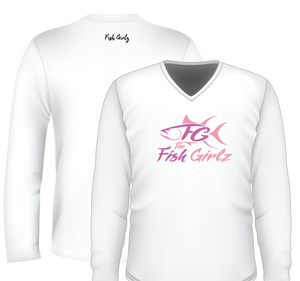 """The Fish Girlz"" Long Sleeve Shirt - White"