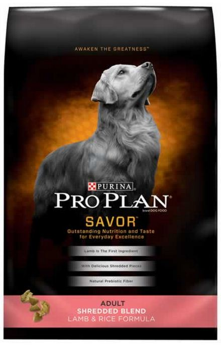 Purina Pro Plan Savor Adult Shredded Blend Lamb and Rice Formula Dry Dog Food
