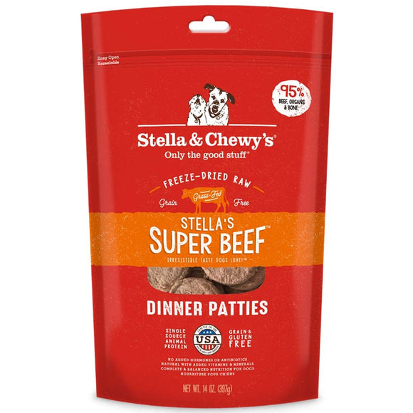 Stella & Chewy's Stella's Super Beef Grain Free Dinner Patties Freeze Dried Raw Dog Food