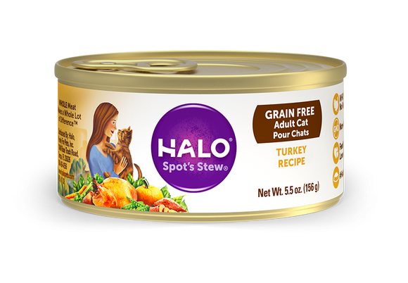 Halo Holistic Grain Free Adult Turkey Recipe Canned Cat Food