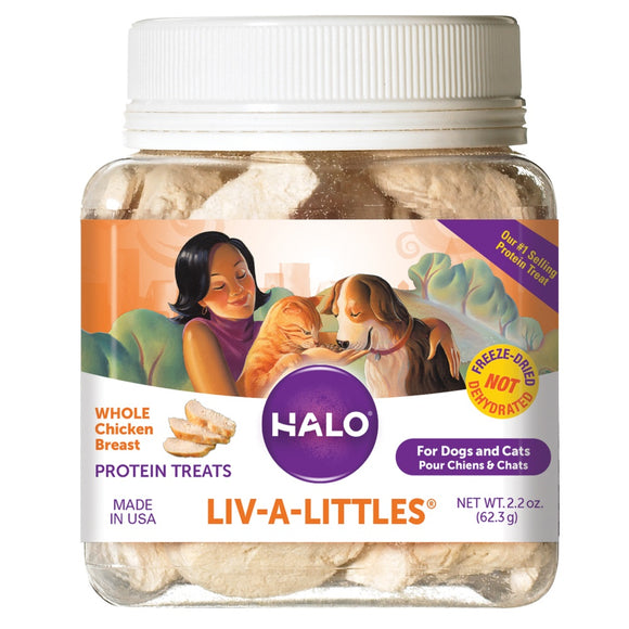 Halo Liv-a-Littles Freeze Dried Whole Chicken Dog and Cat Treats