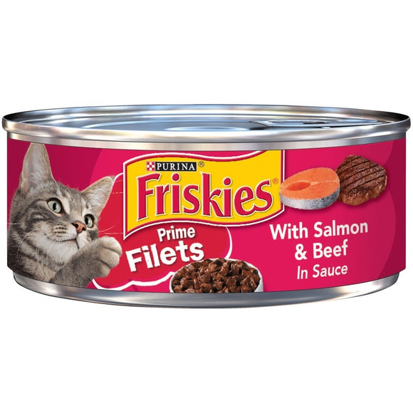 Friskies Prime Filets with Salmon and Beef in Sauce Canned Cat Food