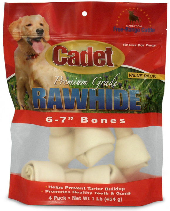 Cadet Rawhide Natural Flavor Knotted Bones for Dogs