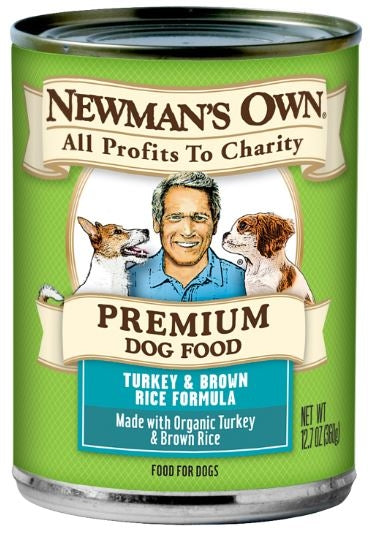 Newmans Own Organics Turkey and Brown Rice Formula Canned Dog Food