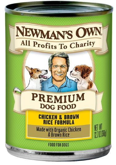 Newman's Own Organics Chicken and Brown Rice Formula Canned Dog Food