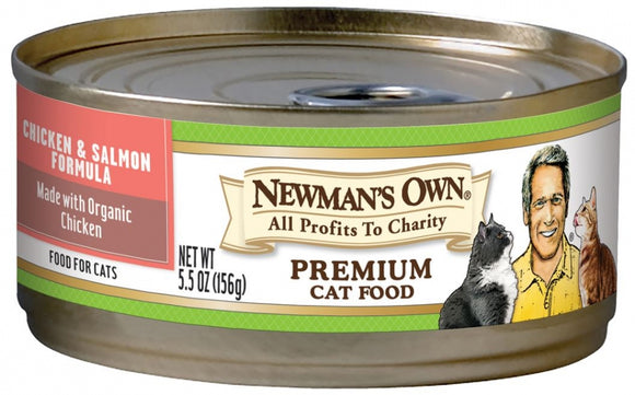 Newman's Own Organics Chicken and Salmon Formula Canned Cat Food