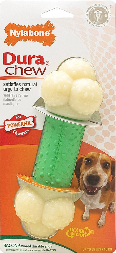 Nylabone DuraChew Double Action Chew Bacon Flavor Dog Toy