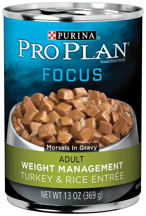 Purina Pro Plan Focus Adult Weight Management Turkey and Rice Entree Canned Dog Food