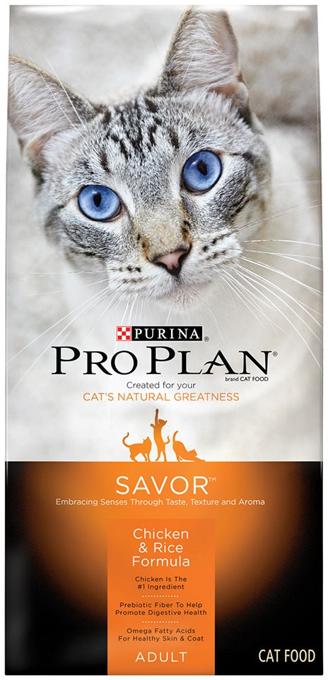 Purina Pro Plan Savor Chicken and Rice Formula Dry Cat Food