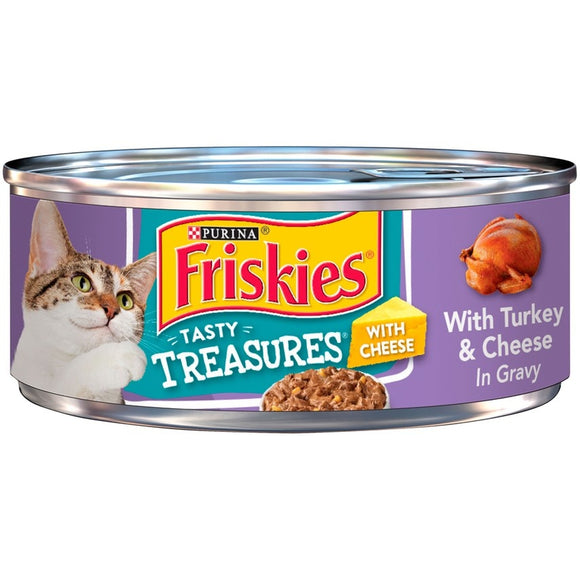 Friskies Tasty Treasures with Turkey and Cheese Canned Cat  Food