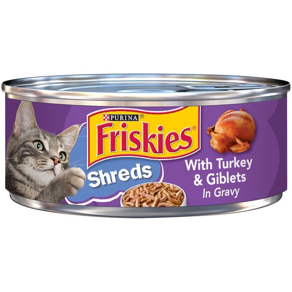 Friskies Savory Shreds with Turkey and Giblets Canned Cat Food