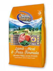 NutriSource Lamb Meal and Peas Formula Grain Free Dry Dog Food