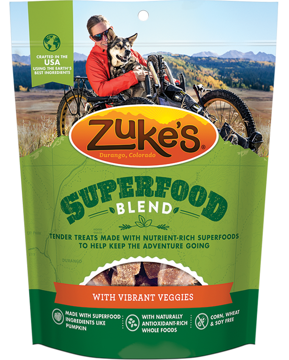 Zukes SuperFood Blend with Vibrant Veggies Dog Treats