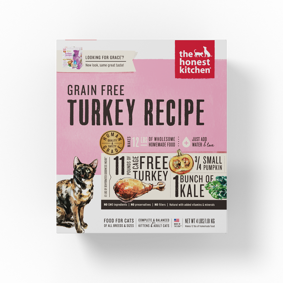 The Honest Kitchen Grain Free Turkey Recipe Dehydrated Cat Food