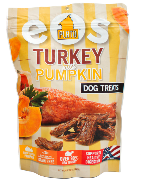 Plato Pet Treats EOS Turkey and Pumpkin Dog Treats