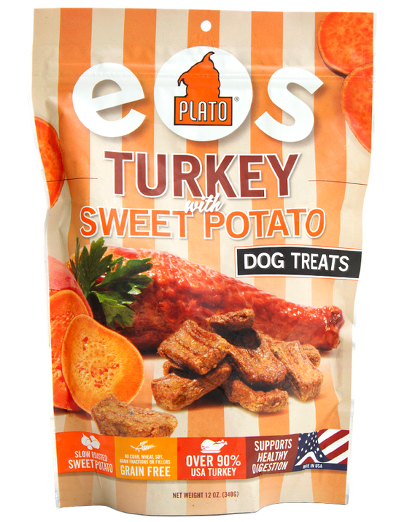 Plato Pet Treats EOS Turkey and Sweet Potato Dog Treats