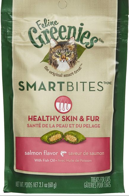 Greenies Smartbites Skin and Fur Salmon Cat Treats