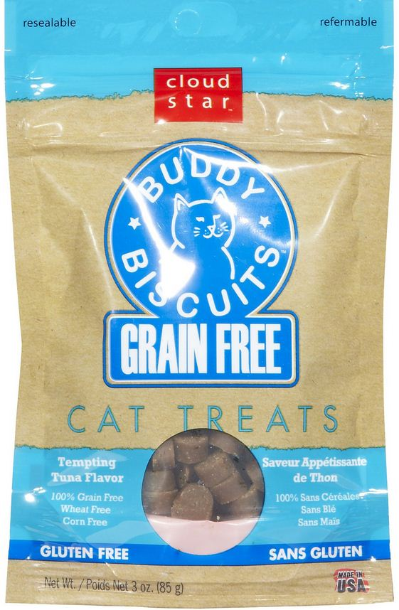 Cloud Star Buddy Biscuits Grain Free Tempting Tuna Cat Treats