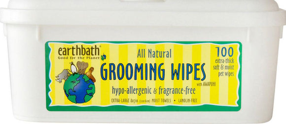 Earthbath Hypo Allergenic Fragrance Free Grooming Wipes for Dogs