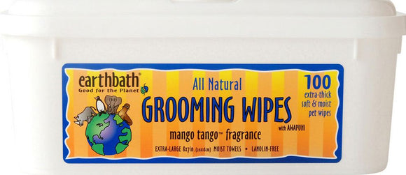 Earthbath Mango Tango Grooming Wipes for Dogs