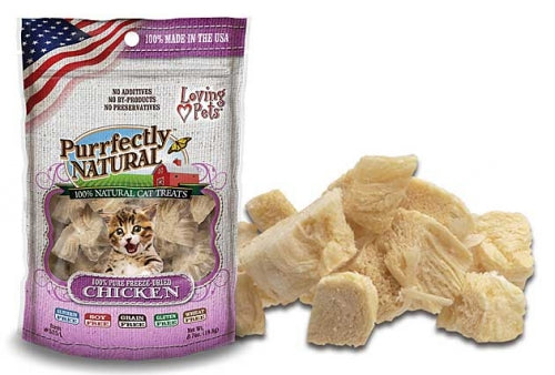 Loving Pets Purrfectly Natural Freeze Dried Chicken Cat Treats