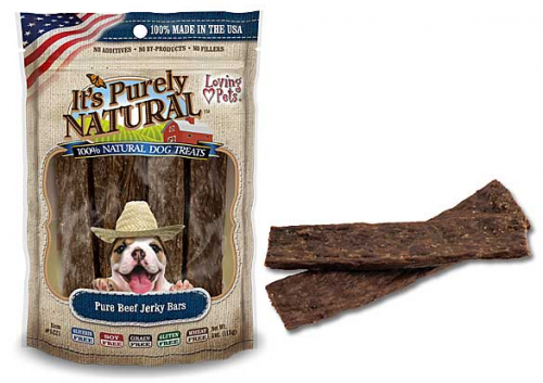 Loving Pets It's Purely Natural Pure Beef Jerky Bars Dog Treats