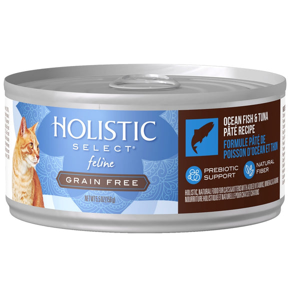 Holistic Select Natural Grain Free Oceanfish & Tuna Pate Canned Cat Food