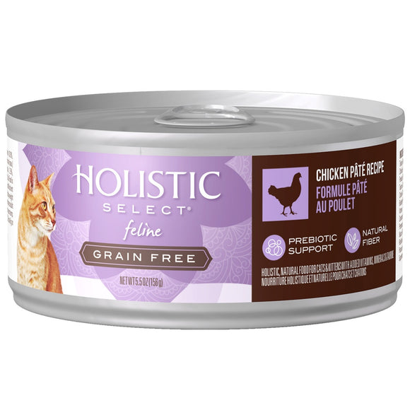 Holistic Select Natural Grain Free Chicken Pate Canned Cat Food