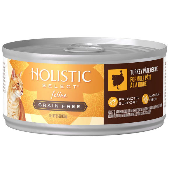 Holistic Select Natural Grain Free Turkey Pate Canned Cat Food
