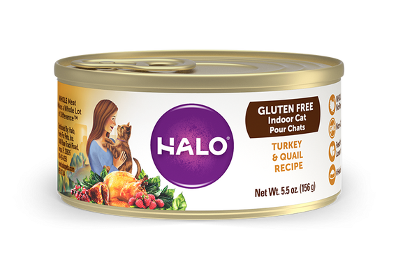 Halo Holistic Gluten Free Turkey & Quail Recipe Canned Cat Food