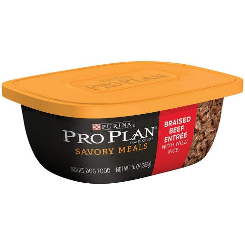 Purina Pro Plan Savory Meals Braised Beef Entree with Wild Rice Adult Dog Food