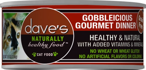 Dave's Naturally Healthy Gobbleicious Gourmet Dinner Canned Cat Food