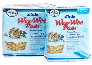 Four Paws Wee-Wee Puppy Housebreaking Pads for Little Dogs