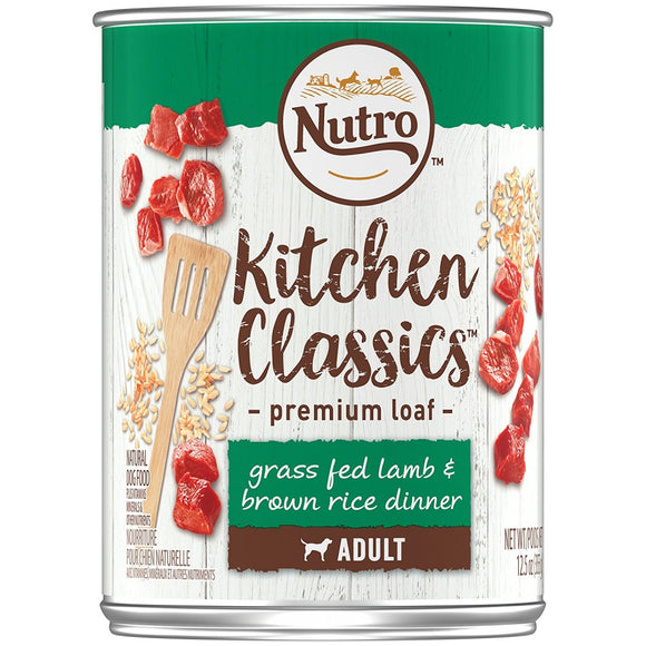 Nutro Adult Kitchen Classics Grass Fed Lamb & Brown Rice Dinner Premium Loaf Canned Dog Food