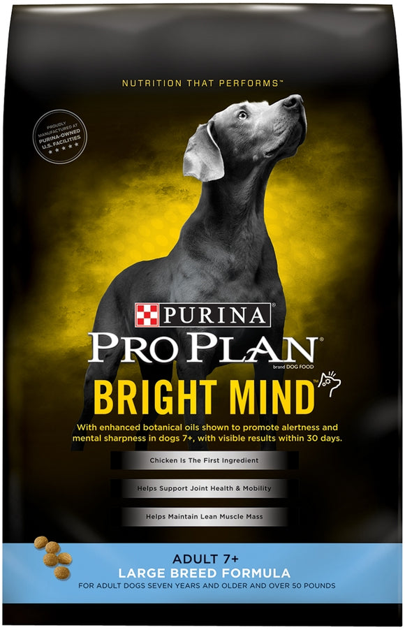 Purina Pro Plan Bright Mind Adult 7plus Large Breed Formula Dry Dog Food