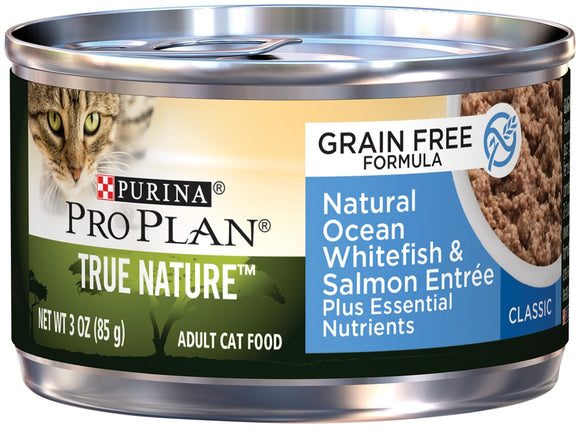 Purina Pro Plan True Nature Grain Free Adult Natural Ocean Whitefish and Salmon Entree Canned Cat Food