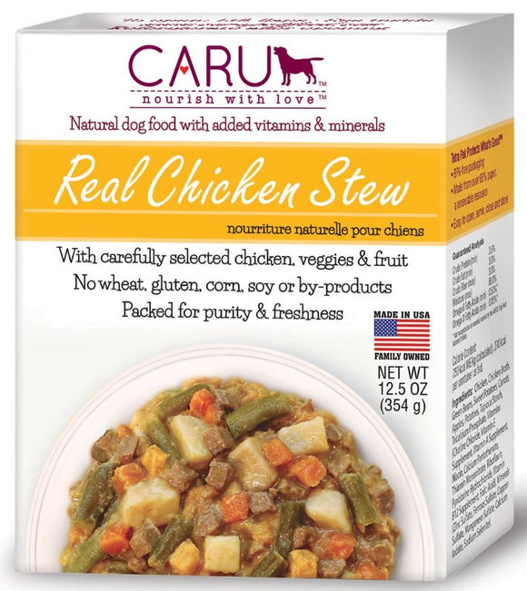 Caru Grain Free Real Chicken Stew Canned Dog Food