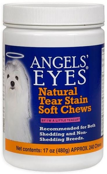Angels' Eyes Natural Tear Stain Soft Chews Chicken Flavor Dog Supplement