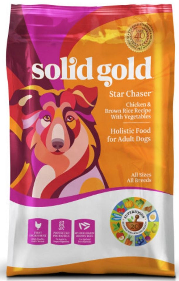 Solid Gold Star Chaser Chicken and Brown Rice with Vegetables Recipe Dry Dog Food