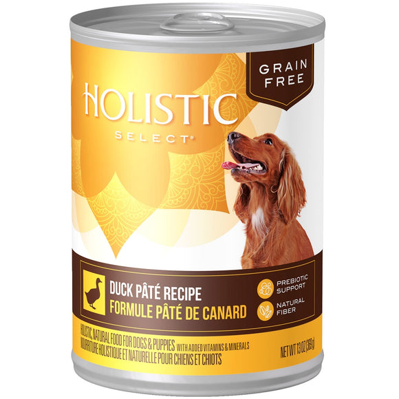 Holistic Select Natural Grain Free Duck Pate Canned Dog Food