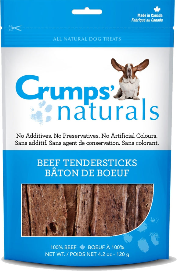 Crumps Naturals Beef Lung Tendersticks Dog Treats