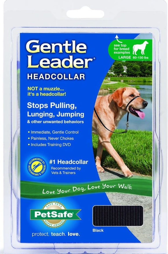 Petsafe Gentle Leader Black Quick Release Headcollar for Dogs