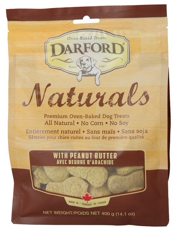 Darford Naturals Peanut Butter Oven Baked Treats for Dogs