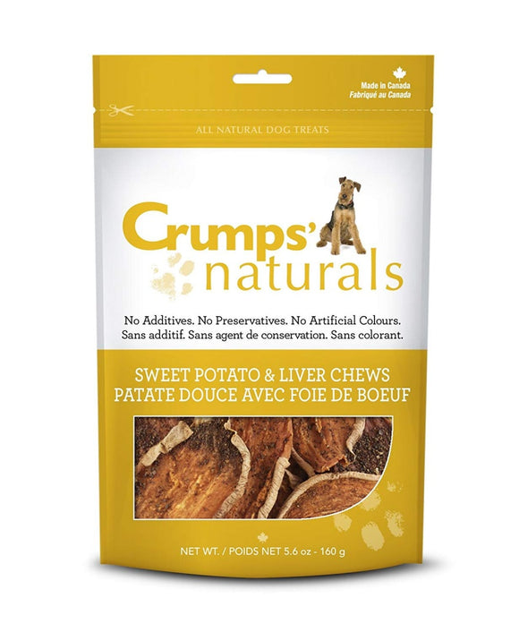 Crumps Naturals Sweet Potato and Liver Dog Treats